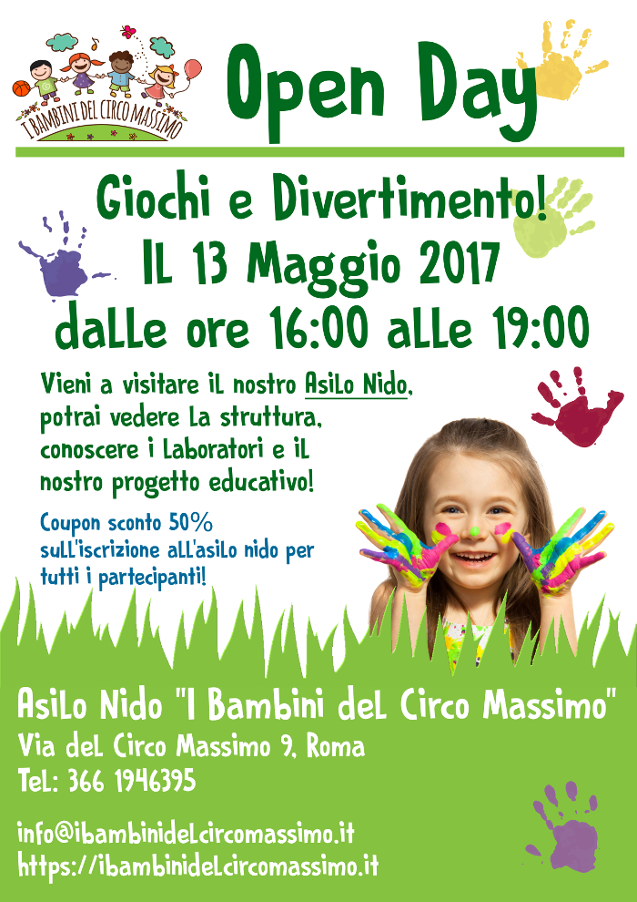 Volantino Open Day 2017 (front)